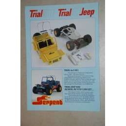 Vintage SERPENT Trial Jeep - Kit 4x2 avec marche AR