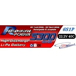 RADIKAL Power 5300mAh 6S1P 22.2V 40C