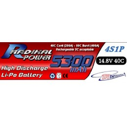 RADIKAL Power 5000mAh 4S1P 14.8V 40C