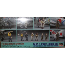 WW II Pilot Figure Set (Japanese, Germann, US/British Pilot Figure)